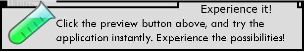 """體驗一下吧!陽離子瞬間。體驗的可能性!點擊""""預覽""""按鈕,嘗試。"""